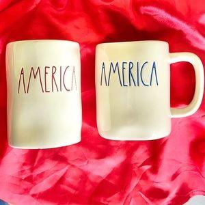 Rae Dunn 'AMERICA' Mug and Candle Bundle